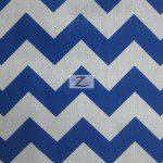1″ Zig Zag Chevron Poly Cotton Fabric Royal Blue