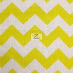 1″ Zig Zag Chevron Poly Cotton Fabric Yellow