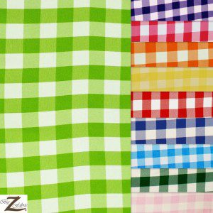 "Gingham 1"" Checkered Poly Cotton Fabric"