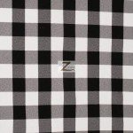 "Gingham 1"" Checkered Poly Cotton Fabric Black"