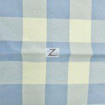 "Gingham 1"" Checkered Poly Cotton Fabric Blue"