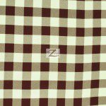 "Gingham 1"" Checkered Poly Cotton Fabric Brown"