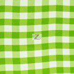 "Gingham 1"" Checkered Poly Cotton Fabric Lime"