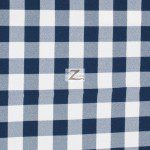 "Gingham 1"" Checkered Poly Cotton Fabric Navy Blue"