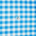 "Gingham 1"" Checkered Poly Cotton Fabric Turquoise"