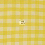 "Gingham 1"" Checkered Poly Cotton Fabric Yellow"