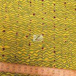 Alexander Henry Cotton Fabric Brazilian Wave Green
