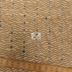 Alexander Henry Cotton Fabric Brazilian Wave Khaki