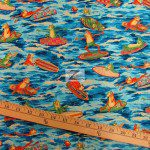 Alexander Henry Cotton Fabric Ribbit Surf