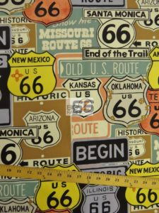 Alexander Henry Historic Route 66 Cotton Fabric
