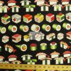 Alexander Henry Sushi Please Enjoy Black Cotton Fabric