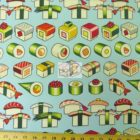 Alexander Henry Sushi Please Enjoy Blue Cotton Fabric