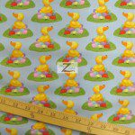 Cotton Fabric By Westminster Fibers Easter Ducks N Eggs Blue