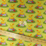 Cotton Fabric By Westminster Fibers Easter Ducks N Eggs Green