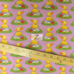 Cotton Fabric By Westminster Fibers Easter Ducks N Eggs Lavender
