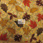 David Textiles Cotton Fabric Autumn Poetry Metallic