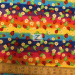 David Textiles Cotton Fabric Daisies & Ladybugs