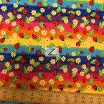 David Textiles Cotton Fabric Daisies & Ladybugs