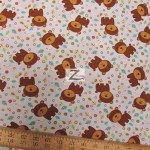 David Textiles Cotton Fabric Fun The Bear Blue