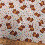 David Textiles Cotton Fabric Fun The Bear Blue