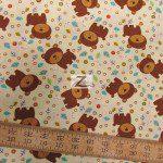David Textiles Cotton Fabric Fun The Bear Ivory