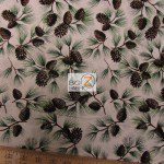 David Textiles Cotton Fabric Pinecones