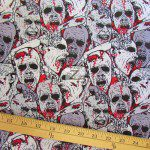 David Textiles Cotton Fabric Zombies