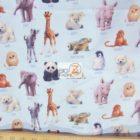 Elizabeth's Studio Cotton Fabric Animal Friends Baby Zoo