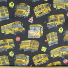 Elizabeth's Studio Cotton Fabric In Motion School Bus