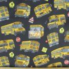Elizabeth's Studio Cotton Fabric In Motion School Bus