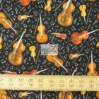 Elizabeth's Studio Cotton Fabric Live Jazz Violins