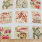 Elizabeth's Studio Cotton Fabric Under The Sea Squares