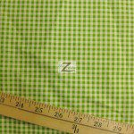 St. Patrick's Day Gingham Cotton Fabric Green