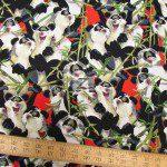 Hoffman California Cotton Fabric Panda Bamboo Buffet