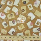 Hoffman California Cotton Fabric Tiana Tags
