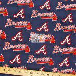 Major League Baseball Cotton Fabric Atlanta Braves