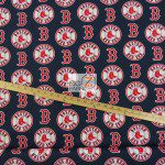 Major League Baseball Cotton Fabric Boston Red Sox Blue