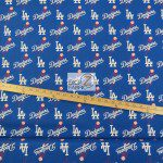 Major League Baseball Cotton Fabric Los Angeles Dodgers