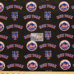 Major League Baseball Cotton Fabric New York Mets