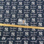 Major League Baseball Cotton Fabric New York Yankees