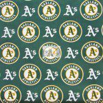 Major League Baseball Cotton Fabric Oakland Athletics A's