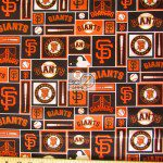 Major League Baseball Cotton Fabric San Francisco Giants Retro