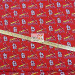 Major League Baseball Cotton Fabric St. Louis Cardinals