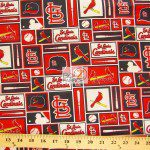 Major League Baseball Cotton Fabric St. Louis Cardinals Retro