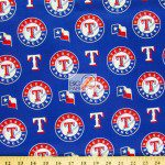 Major League Baseball Cotton Fabric Texas Rangers