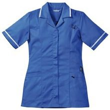 Solid Heavyweight Poly Cotton Fabric Nurse Uniform