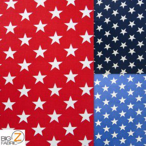 American Stars Poly Cotton Fabric