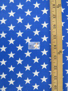 American Stars Poly Cotton Fabric Measurement