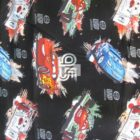 Disney Cotton Fabric Cars World Grand Prix