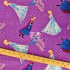 Disney Cotton Fabric Frozen Sisters Forever Character Toss